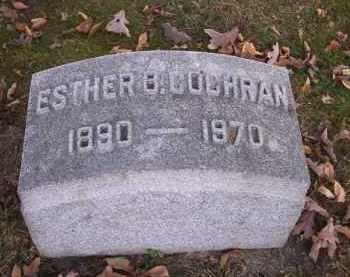 COCHRAN, ESTHER B. - Columbiana County, Ohio | ESTHER B. COCHRAN - Ohio Gravestone Photos