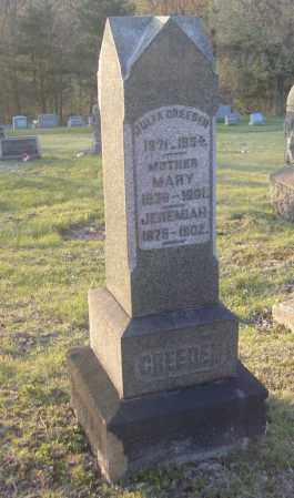 CREEDEN, MARY - Columbiana County, Ohio | MARY CREEDEN - Ohio Gravestone Photos