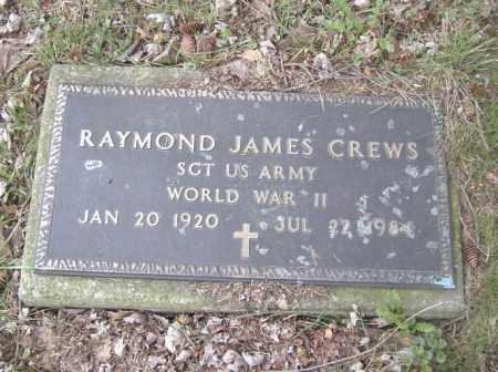 CREWS, RAYMOND JAMES - Columbiana County, Ohio   RAYMOND JAMES CREWS - Ohio Gravestone Photos