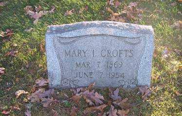 CROFTS, MARY I. - Columbiana County, Ohio | MARY I. CROFTS - Ohio Gravestone Photos