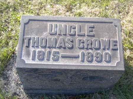 CROWE, THOMAS - Columbiana County, Ohio | THOMAS CROWE - Ohio Gravestone Photos