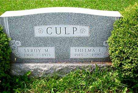 CULP, LEROY M. - Columbiana County, Ohio | LEROY M. CULP - Ohio Gravestone Photos