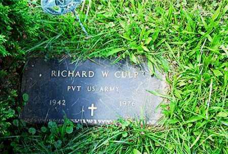 CULP, RICHARD W. - Columbiana County, Ohio | RICHARD W. CULP - Ohio Gravestone Photos
