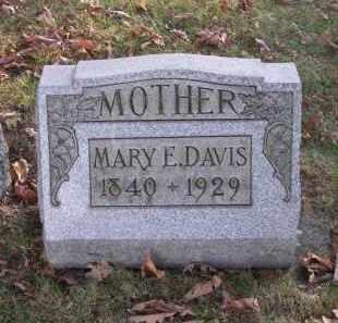 DAVIS, MARY E. - Columbiana County, Ohio | MARY E. DAVIS - Ohio Gravestone Photos
