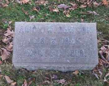 DAWSON, AMOS W. - Columbiana County, Ohio   AMOS W. DAWSON - Ohio Gravestone Photos