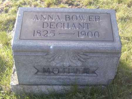 DECHANT, ANNA BOWER - Columbiana County, Ohio | ANNA BOWER DECHANT - Ohio Gravestone Photos