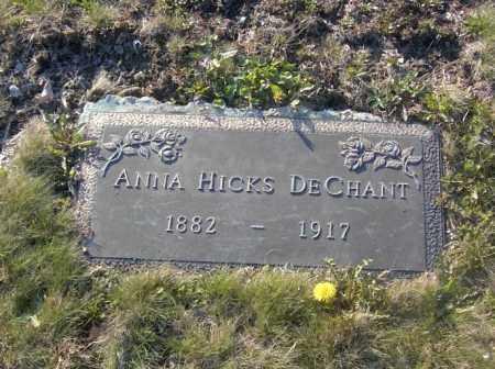 DECHANT, ANNA HICKS - Columbiana County, Ohio   ANNA HICKS DECHANT - Ohio Gravestone Photos