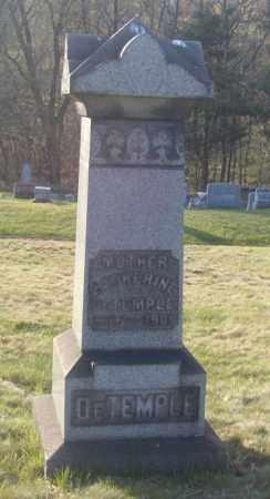 DETEMPLE, CATHERINE - Columbiana County, Ohio | CATHERINE DETEMPLE - Ohio Gravestone Photos