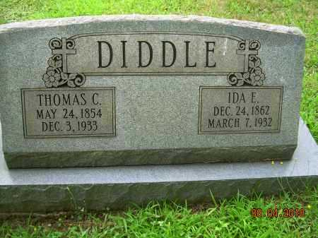MCELROY DIDDLE, IDA E - Columbiana County, Ohio | IDA E MCELROY DIDDLE - Ohio Gravestone Photos
