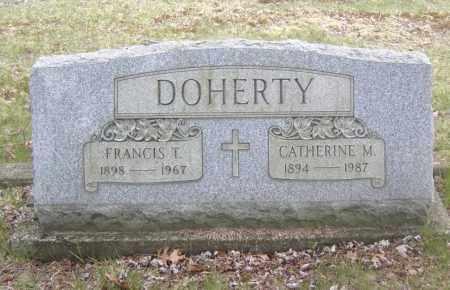 DOHERTY, FRANCIS T. - Columbiana County, Ohio | FRANCIS T. DOHERTY - Ohio Gravestone Photos