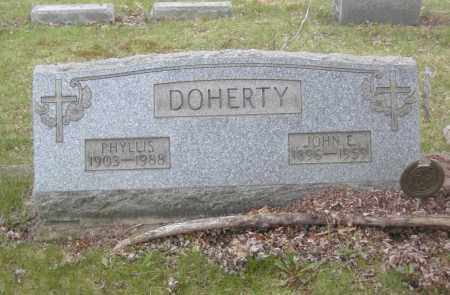 DOHERTY, JOHN E. - Columbiana County, Ohio | JOHN E. DOHERTY - Ohio Gravestone Photos