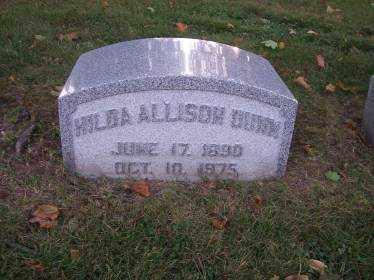 DUNN, HILDA - Columbiana County, Ohio | HILDA DUNN - Ohio Gravestone Photos