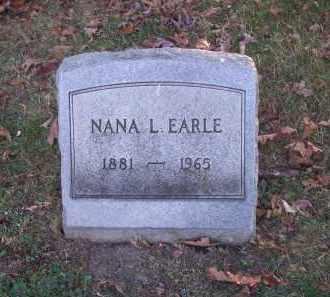 EARLE, NANA L. - Columbiana County, Ohio   NANA L. EARLE - Ohio Gravestone Photos