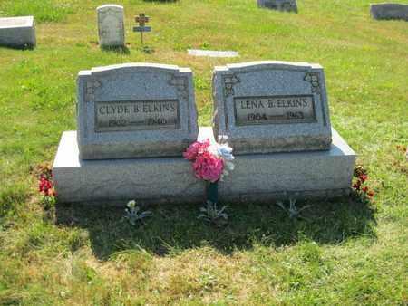 OWENS ELKINS, LENA BERDELLA - Columbiana County, Ohio | LENA BERDELLA OWENS ELKINS - Ohio Gravestone Photos