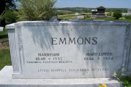 LOWER EMMONS, MARY - Columbiana County, Ohio | MARY LOWER EMMONS - Ohio Gravestone Photos