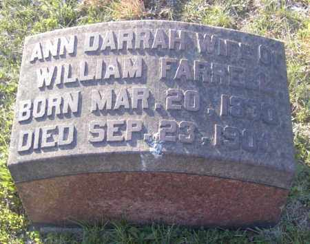 FARRELL, ANN DARRAH - Columbiana County, Ohio | ANN DARRAH FARRELL - Ohio Gravestone Photos
