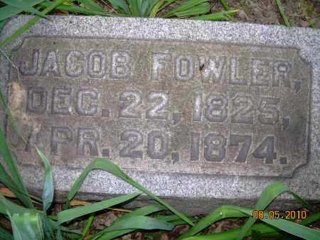 FOWLER, JACOB - Columbiana County, Ohio | JACOB FOWLER - Ohio Gravestone Photos