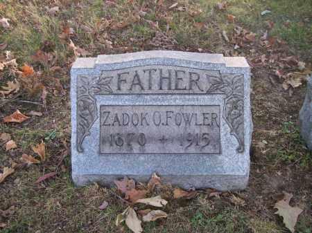 FOWLER, ZADOK O. - Columbiana County, Ohio   ZADOK O. FOWLER - Ohio Gravestone Photos