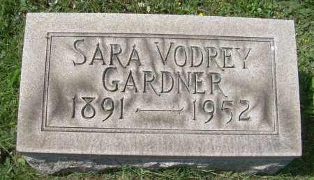 VODREY GARDNER, SARAH - Columbiana County, Ohio | SARAH VODREY GARDNER - Ohio Gravestone Photos