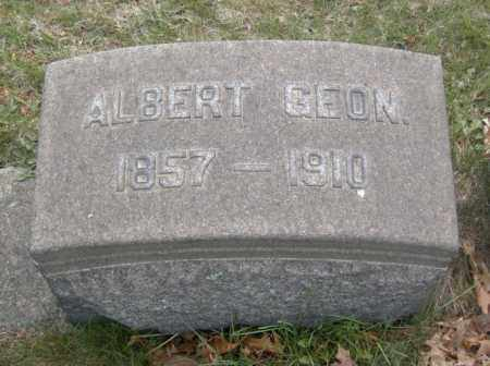 GEON, ALBERT - Columbiana County, Ohio | ALBERT GEON - Ohio Gravestone Photos