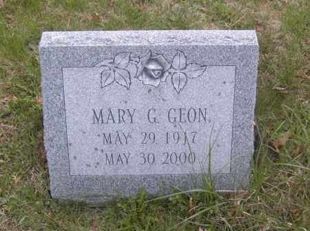 GEON, MARY G. - Columbiana County, Ohio   MARY G. GEON - Ohio Gravestone Photos