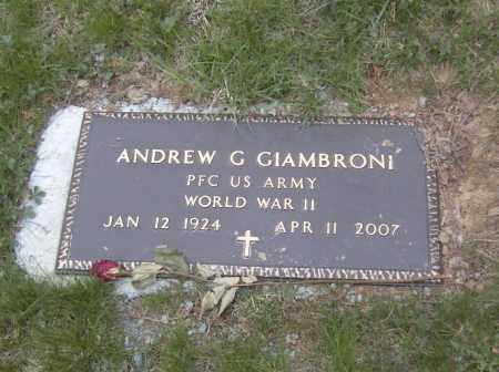 GIAMBRONI, ANDREW G. - Columbiana County, Ohio | ANDREW G. GIAMBRONI - Ohio Gravestone Photos