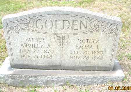 GOLDEN, ARVILLE A - Columbiana County, Ohio | ARVILLE A GOLDEN - Ohio Gravestone Photos