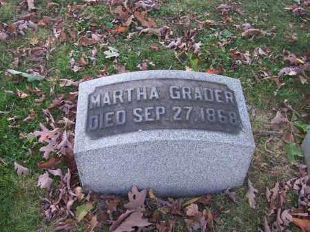 GRADER, MARTHA - Columbiana County, Ohio | MARTHA GRADER - Ohio Gravestone Photos