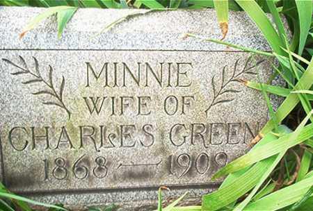 GREEN, MINNIE B. - Columbiana County, Ohio | MINNIE B. GREEN - Ohio Gravestone Photos