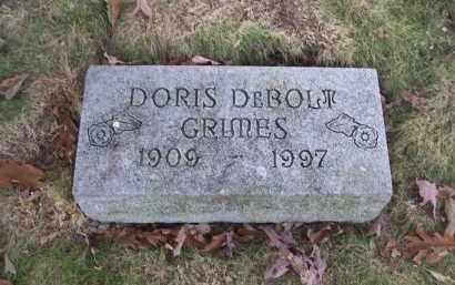 DEBOLT GRIMES, DORIS - Columbiana County, Ohio   DORIS DEBOLT GRIMES - Ohio Gravestone Photos
