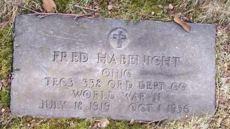 HABENICHT, FRED - Columbiana County, Ohio | FRED HABENICHT - Ohio Gravestone Photos