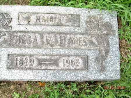 HAYES, PHEBA M - Columbiana County, Ohio   PHEBA M HAYES - Ohio Gravestone Photos
