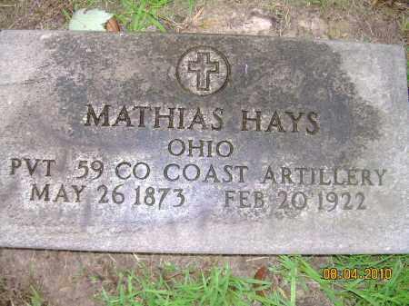 HAYS, MATHIAS - Columbiana County, Ohio   MATHIAS HAYS - Ohio Gravestone Photos