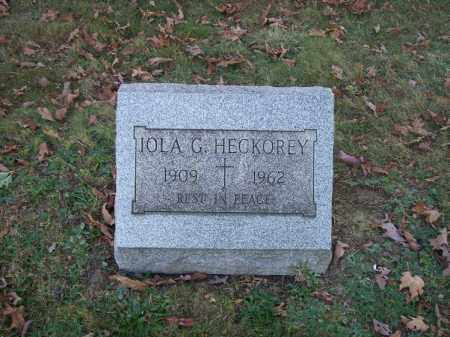HECKOREY, IOLA G. - Columbiana County, Ohio   IOLA G. HECKOREY - Ohio Gravestone Photos