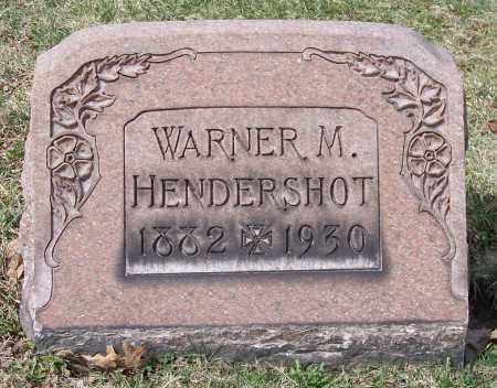 HENDERSHOT, WARNER M. - Columbiana County, Ohio | WARNER M. HENDERSHOT - Ohio Gravestone Photos