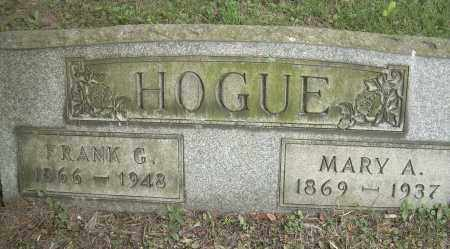 HOGUE, MARY A - Columbiana County, Ohio | MARY A HOGUE - Ohio Gravestone Photos