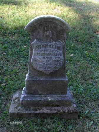 HUMPHREYS, FRANKLIN - Columbiana County, Ohio | FRANKLIN HUMPHREYS - Ohio Gravestone Photos