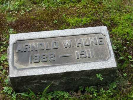 HUNE, ARNOLD W. - Columbiana County, Ohio | ARNOLD W. HUNE - Ohio Gravestone Photos