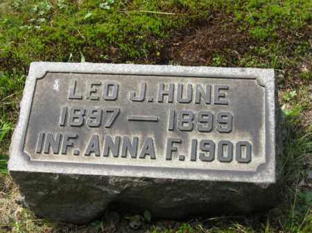 HUNE, ANNA F. - Columbiana County, Ohio   ANNA F. HUNE - Ohio Gravestone Photos