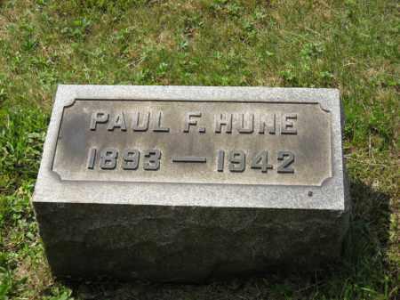 HUNE, PAUL F. - Columbiana County, Ohio | PAUL F. HUNE - Ohio Gravestone Photos
