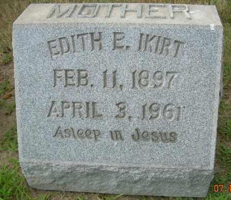 IKIRT, EDITH E - Columbiana County, Ohio | EDITH E IKIRT - Ohio Gravestone Photos