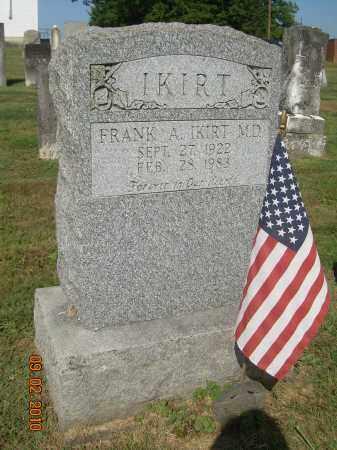 IKIRT, FRANK A, MD - Columbiana County, Ohio | FRANK A, MD IKIRT - Ohio Gravestone Photos