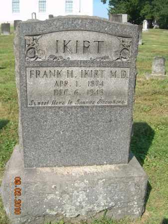 IKIRT, FRANK H, MD - Columbiana County, Ohio   FRANK H, MD IKIRT - Ohio Gravestone Photos