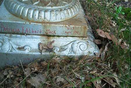 JACK, ALBERT - Columbiana County, Ohio   ALBERT JACK - Ohio Gravestone Photos