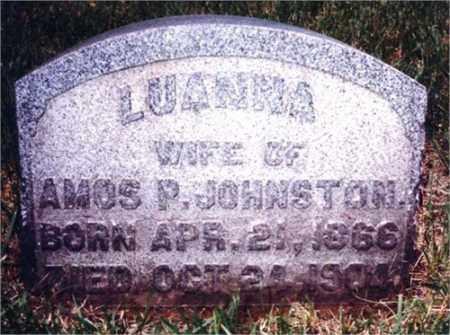JOHNSTON, LUANNA - Columbiana County, Ohio   LUANNA JOHNSTON - Ohio Gravestone Photos
