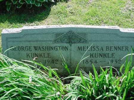 BENNER KUNKLE, MELISSA - Columbiana County, Ohio | MELISSA BENNER KUNKLE - Ohio Gravestone Photos