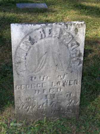 LOWER, MARY - Columbiana County, Ohio | MARY LOWER - Ohio Gravestone Photos