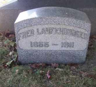 LAUFENBURGER, FRED - Columbiana County, Ohio | FRED LAUFENBURGER - Ohio Gravestone Photos