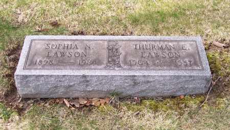 LAWSON, SOPHIA N. - Columbiana County, Ohio   SOPHIA N. LAWSON - Ohio Gravestone Photos
