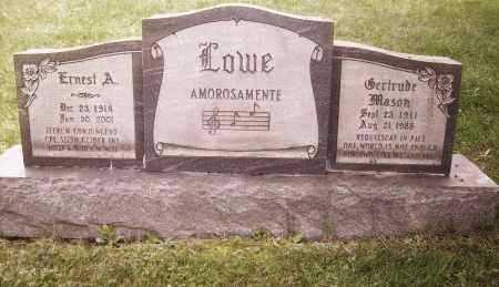 LOWE, ERNEST A - Columbiana County, Ohio | ERNEST A LOWE - Ohio Gravestone Photos